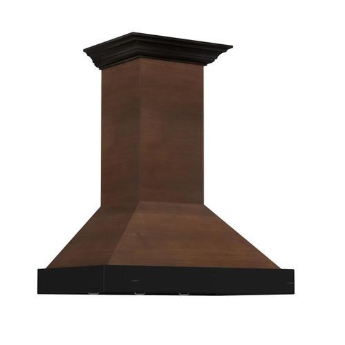 ZLINE Kitchen and Bath ZLINE 48 in. 760 CFM Designer Series Wooden Wall Mount Range Hood