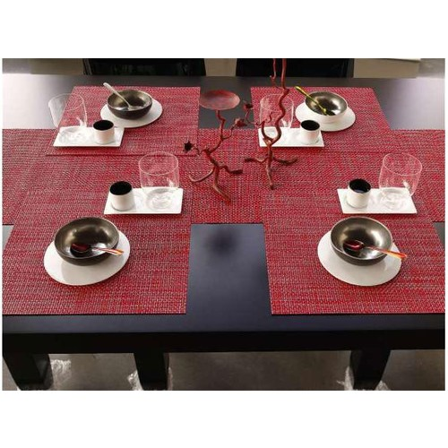Basketweave Placemats in Multiple Colors design by Chilewich - Aluminum