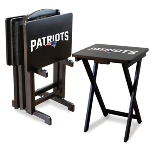 NFL New England Patriots TV Tray with Stand (Set of 4)