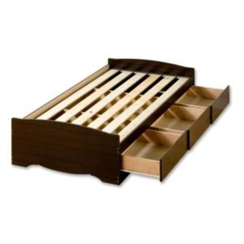 Prepac Fremont Twin Wood Storage Bed