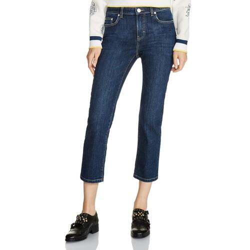 MAJE Pippou Cropped Straight-Leg Jeans