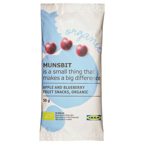 MUNSBIT Fruit snacks, apple, blueberry