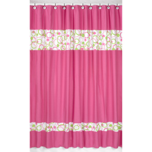Sweet Jojo Designs Danielle's Daisies Kids Shower Curtain