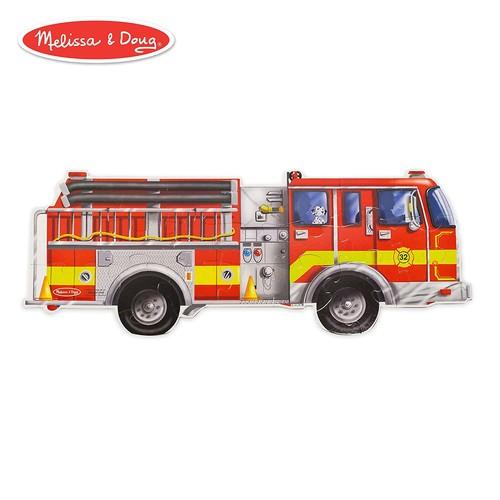 Melissa & Doug Fire Truck Jumbo Jigsaw Floor Puzzle (24 pcs, 4 feet long)
