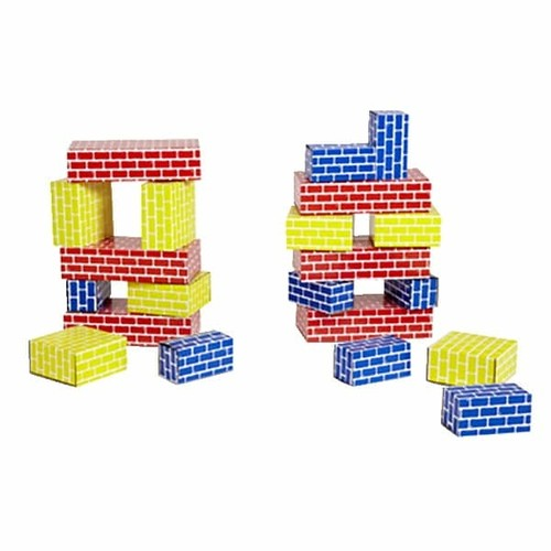 Childcraft Corrugated Blocks, Blue, Red and Yellow, Set of 84