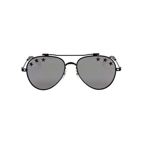 GIVENCHY Silver Mirror Star Aviator Sunglasses