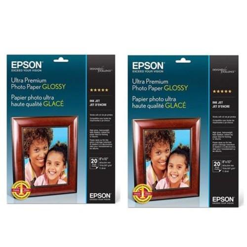 Epson 2x Ultra Premium Glossy Photo Paper (8x10