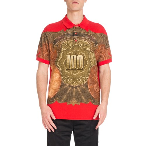 GIVENCHY Columbian-Fit Money-Print Polo Shirt, Red