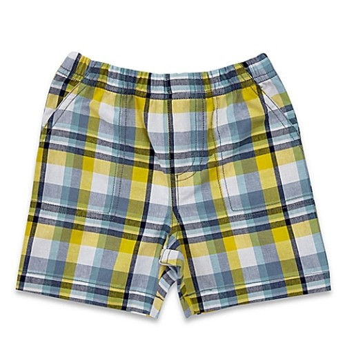 Celebrity Kids Size 3M Plaid Short in Blue/Yellow