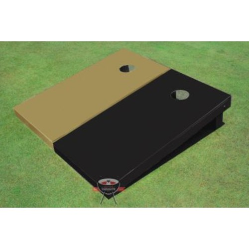 All American Tailgate Solid Cornhole Board (Set of 2); Gold and Black