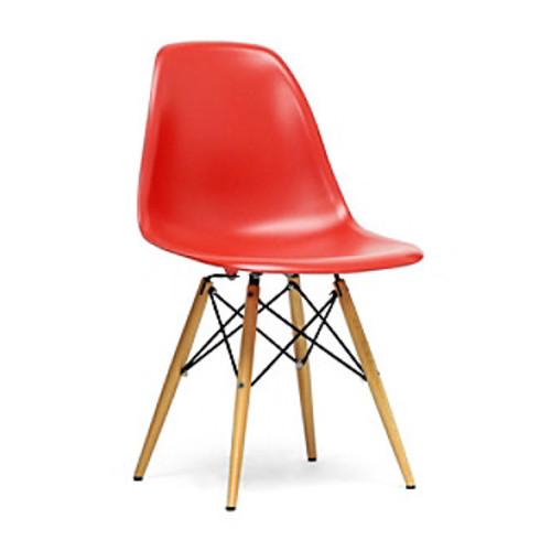 Baxton Studios Set of 2 Azzo Plastic Mid-Century Modern Shell Chairs
