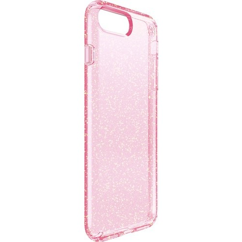 Speck - Presidio clear+glitter Case for Apple iPhone 7 Plus - Rose pink with gold glitter