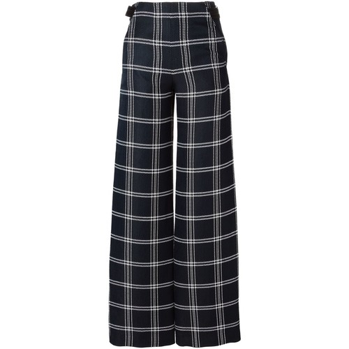 PROENZA SCHOULER Checked Wide Leg Trousers