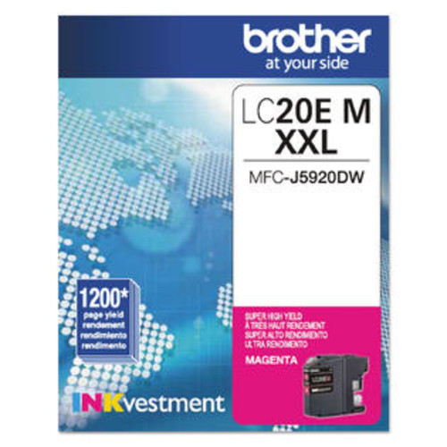 Brother LC20EM INKvestment Super High-Yield Ink Magenta