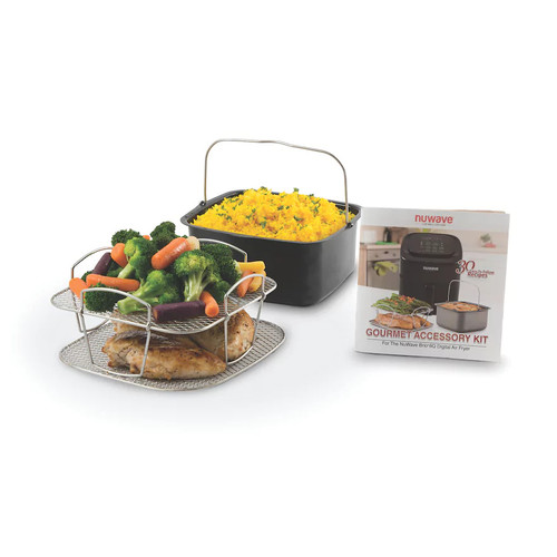 NuWave Brio 6-qt. Air Fryer Gourmet Accessory Kit As Seen on TV