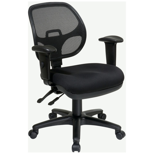 Pro-Line II Breathable Padded Black Task Chair