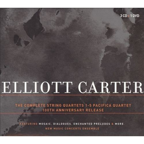 Elliott Carter: Complete String Quartets 1-5 Pacifica Quartet 100th Anniversary Release [CD/DVD] [DVD]
