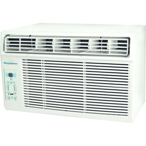 Keystone 6,000 BTU 115-Volt Window-Mounted Air Conditioner with LCD Remote Control