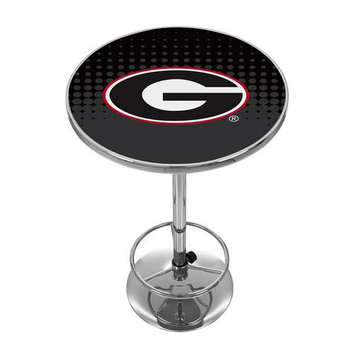University of Georgia Chrome Pub Table - Reflection