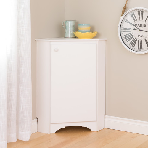 Prepac Manufacturing Ltd Elite White Corner Storage Cabinet