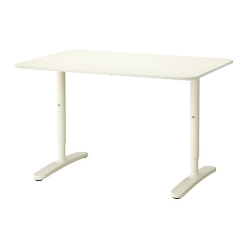 BEKANT Desk, gray, black