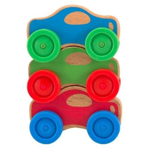 Melissa & Doug Stacking Cars Wooden Baby Toy