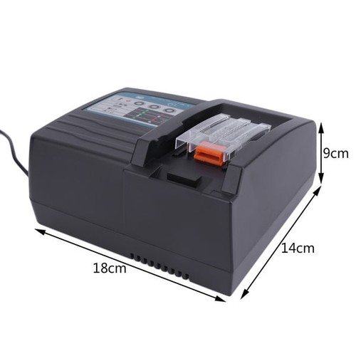 Compact Battery Charger For MAKITA Fast Charging Rapid Battery Charger Black