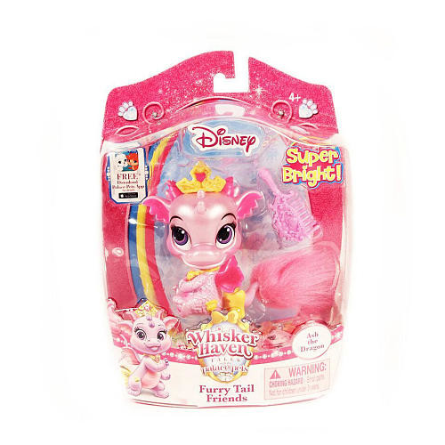 Disney Princess Whisker Haven Tales Palace Pets 2.5 inch Furry Tails Friends - Ash the Dragon