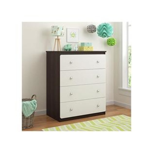 Ameriwood Cosco Willow Lake 4 Drawer Dresser, Coffee House Plank/White