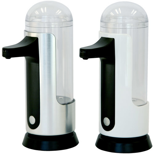 iTouchless 8 oz. Automatic Soap Dispenser in White/Silver (2-Pack)