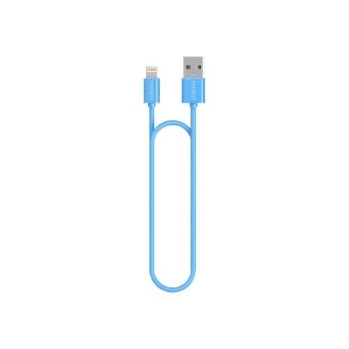 Cygnett Lightning cable - USB (M) to Lightning (M) - 4 ft - blue - for Apple iPad/iPhone/iPod (Lightning) (CY1473PCCSL)