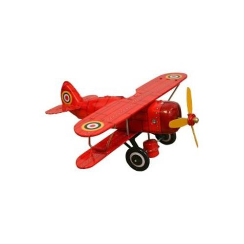 Zoomie Kids Tin Toy Curtis Biplane Model Vehicle