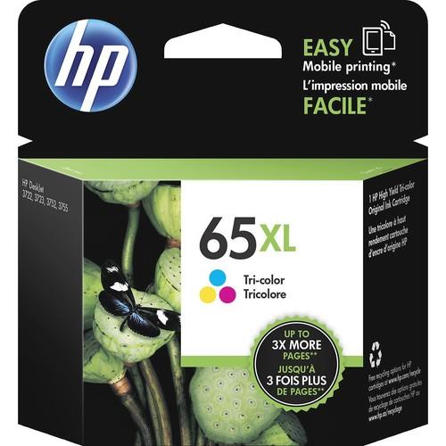 HP - 65XL High-Yield Ink Cartridge - Multicolor