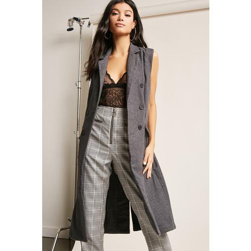 Wool-Blend Longline Vest