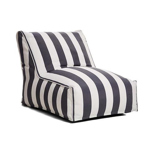 Cabana Stripe Outdoor Lounger, Gray/White