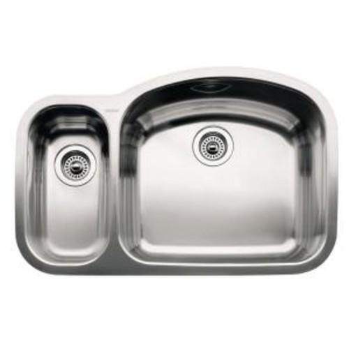 Blanco WAVE Undermount Stainless Steel 32 in. Reverse 1-1/2 Bowl Kitchen Sink