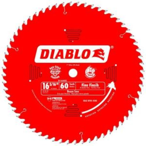 Diablo 16-5/16 in. x 60-Tooth x 1 in. Arbor Fine Finish Saw Blade for Beam Saws