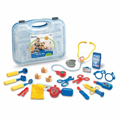 Learning Resources Pretend & Play Doctor Set, 19 Pieces, Blue [Frustration-Free Packaging]