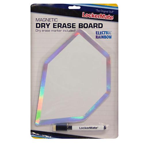 LockerMate Locker Dry-Erase Board, Electric Rainbow