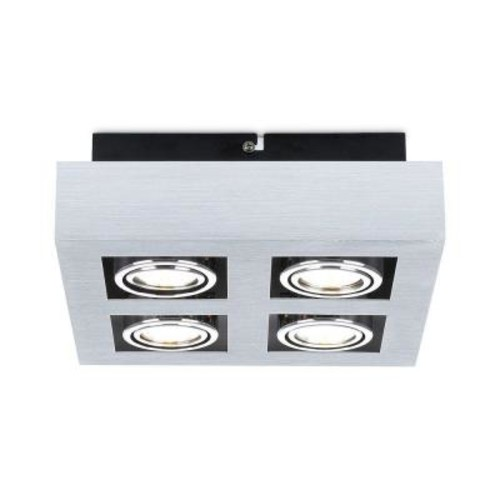 Eglo Loke 4-Light Brushed Aluminum Track Lighting