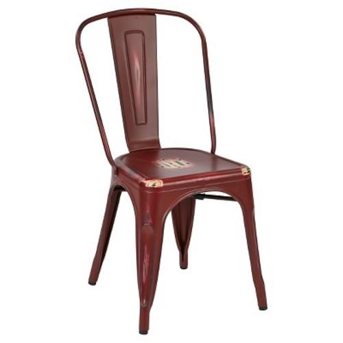 Osp Designs Bristow Armless Chair Metal (Set of 2) - Office Star