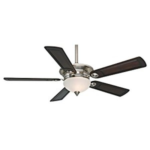 Casablanca 59059 Whitman 54-Inch Ceiling Fan with Five Reclaimed Antique Blades, Wall Control and Light, Brushed Nickel [Brushed Nickel]