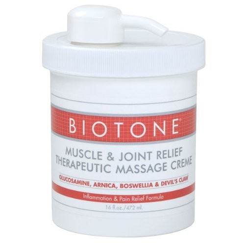 Biotone Muscle and Joint Relief Therapeutic Products Massage Creme, 16 Ounce