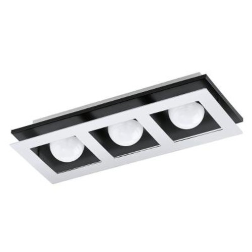 Eglo Bellamonte 1 ft. Brushed Aluminum and Black Track Lighting