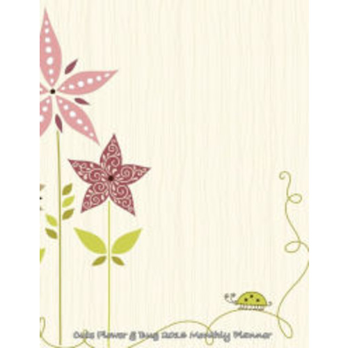 Cute Flower & Bug 2016 Monthly Planner