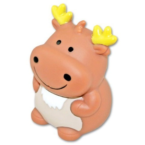 Puzzled Moose Bath Buddy Squirter Brown 3 Inch