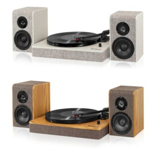 Victrola Hampton Record Player with Bluetooth 50-Watt Speakers and 3-Speed Turntable