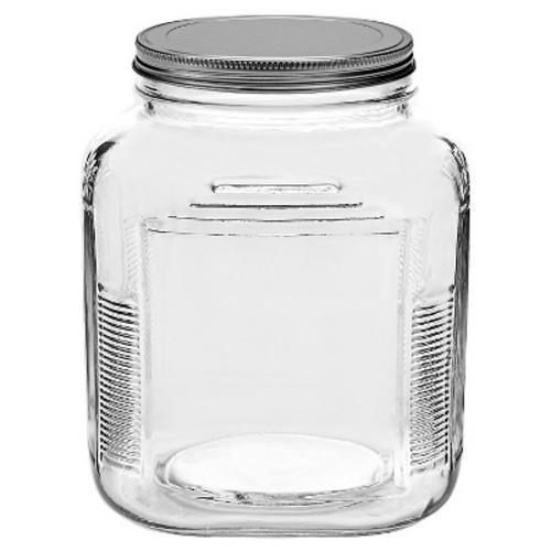 CRACKER JAR ANCHOR MED GLASS W/LID