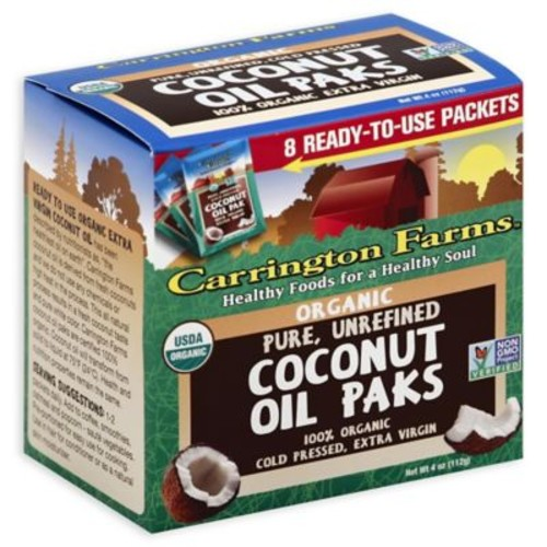 Carrington Farms 8-Packets Organic Unrefined Cold Pressed Coconut Oil