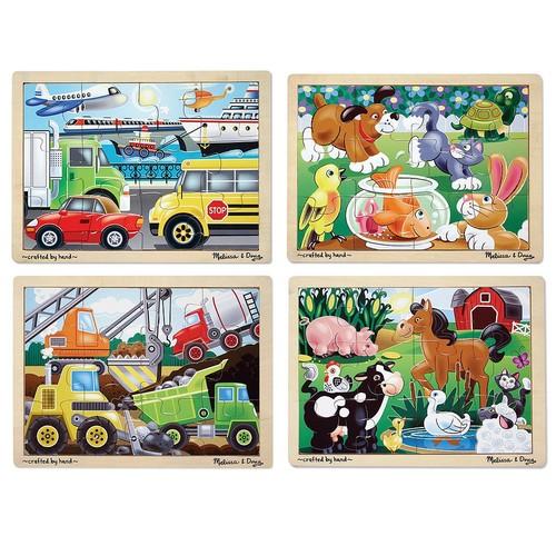 Melissa & Doug Wooden Jigsaw Puzzle Bundle